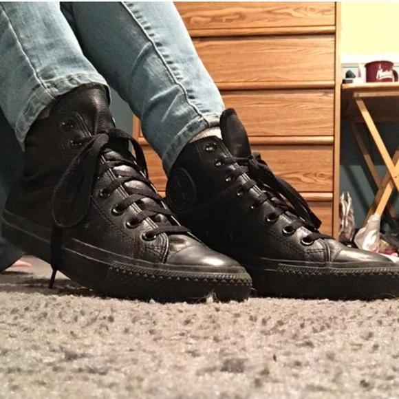 06706e00d2df Converse Shoes - Black leather Converse